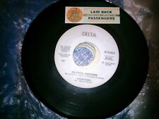 "7"" PROMO+STICK PASSENGERS CAMPING PARADISE LAID BACK DON'T RUN FROM YOUR SHADOW"