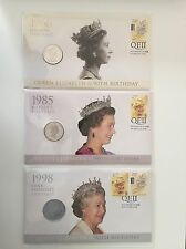 Set Of 3 Queen Elizabeth II 90th Birthday 20c 50c Coin PNC Limited Mintage 9000
