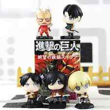 Anime Attack On Titan Shingeki no Kyojin Set 5 Mini Toy Figure Doll New In Box