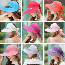 New Woman Fashion Summer UV Visor Headwear Sun Hat Wide Brim Beach Cap Riding
