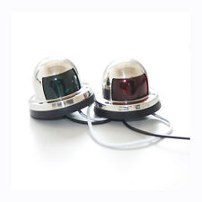 Pair of Marine Boat Yacht Navigation Lights LED 12V Bow Stainless Steel Housing