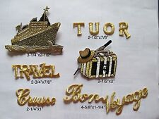 #3585SET Cruise,Tour,Travel,Bon Voyage,Hat,Luggage Embroidery Applique Patch