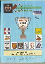 #UU.  NEWCASTLE RUGBY LEAGUE PROGRAM ROUND 18,  10-11 July 2004