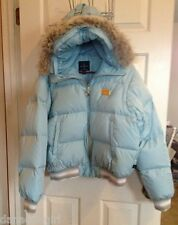 NEW Baby Phat Size XL Puffer Winter Jacket with removable Coyote fur trim hood