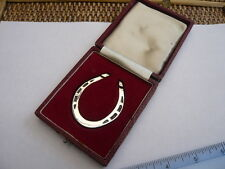 VINTAGE HEAVY 1970,S SOLID STERLING SILVER LARGE SIZE GOOD LUCK HORSE SHOE 21ST