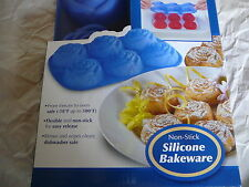 Silicone Bakeware Mini Sweetheart Rose Design Blue Good Cook
