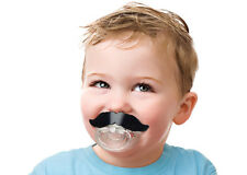 FRED AND FRIENDS Chill, Baby Silicone Mustache Pacifier/Teether PVC & BPA FREE