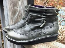 BOS. & CO. GROUNDHOG Women's 6 Green Leather SARGENT Ankle Boots F11