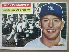 1956 TOPPS BASEBALL CARD #135 NEW YORK YANKEES MICKEY MANTLE