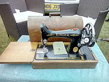 VINTAGE HEAVY DUTY SINGER  99K  SEWING  MACHINE WITH CASE AND KEY