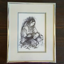 Madonna of the Wild Rice People Menominee Tribe Framed Print Michele Gauthier