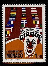 "MONACO #1087 MNH VF OG ""4th International Circus Festival"" Clowns 1,00 Fr 1977"