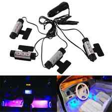 4x Car Charge Interior Accessories Floor Decorative Atmosphere 3LED Lamp Light