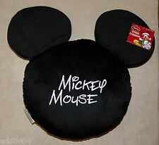 Disney Mickey Mouse Plush Cushion Black w/ Embroidered Signature - Super Soft