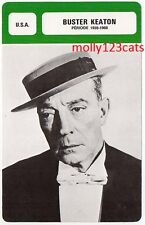 American Silent Actor Producer Writer Film Star Buster Keaton French Trade Card