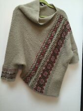 Anthropologie Wooden Ships Poncho Style Sweater Euc One Size