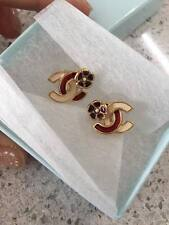 AUTH CHANEL CC LOGO EARRINGS MADE IN FRANCE COLLECTION 03 EXCELLENT CONDITION