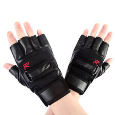 Mens Weight Lifting Gym Exercise Training Sport Fitness Sports PU Leather Gloves