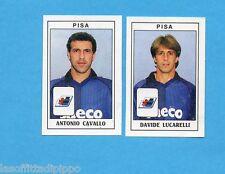 PANINI CALCIATORI 1989/90 -Figurina n.466- CAVALLO+LUCARELLI -PISA-Recuperata