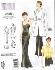 Vtg 30s Retro Formal Evening Dress Gown Jacket Wrap Top Sewing Pattern 12 14 16