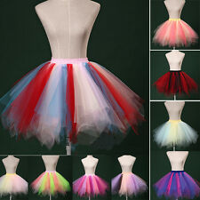 Women Princess Ballet Tulle Tutu Skirt Mini Dress Petticoat Hen Party Pettiskirt