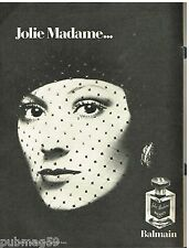 Publicité Advertising 1973 Parfum Jolie Madame de Balmain