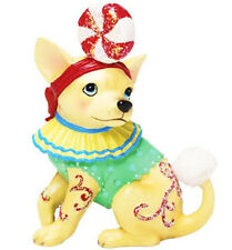 New AYE CHIHUAHUA Dog Figure Figurine PEPPERMINT CANDY Statue HOLIDAY CHRISTMAS