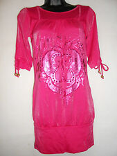 NEW Apple Bottoms HOT PINK tunic XS
