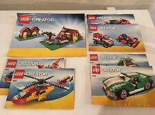 LEGO CREATOR INSTRUCTION BOOKLET Lot - 5766, 5866, 5867 & 6743