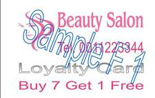 LOYALTY CARDS 100 DOUBLE SIDED DESIGNED PRINTING  4 U