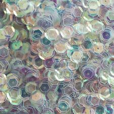 SEQUIN FACET 8mm Shallow Cup Loose PAILLETTE ~ Mirror Ultra Crystal Rainbow