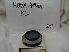 HOYA 49MM Threaded PL POLARIZING FILTER with Hoya case.