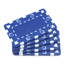 5 ct Blank European-Style Poker Plaques Rectangular Chips Suits/Dice - Blue