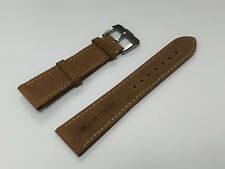 Parnis 21mm Brown Leather Band Strap For Watch