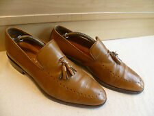 Gucci full leather wholecut tassel loafer sz UK 7.5 41.5 brown pointed slip-on