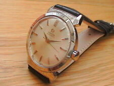 Vintage 1954 Omega Seamaster Cal #554 17J Automatic Bumper Steel Watch + Strap