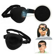 Adjustable Concave Eye Patch Foam Groove Strap Washable Eyeshades Medical Black