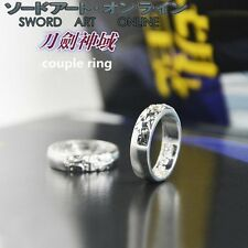 2Pcs Sword Art Online Kirigaya Kazuto Yūki Asuna Alloy Cosplay Costume Ring