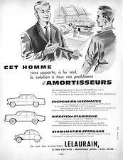 PUBLICITE AMORTISSEURS STABILAUR POUR LA 2 CV CITROEN / ACCESSOIRES AUTO AD 1962
