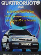 Quattroruote 431 1991 - Golf Astra Peugeot 106: le star di Francoforte     [Q39]
