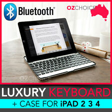 NEW Luxury Wireless Bluetooth Keyboard + Case iPad 2 3 4 Aluminium Light Weight