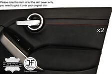 RED Stitch 2x FRONT DOOR CARD Trim IN Pelle Cover Adatta FIAT 500X 500 x 14 al 17