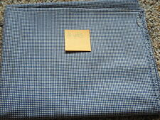 2 YDs Quilt Sewing Fabric Blue & White Checkered Squares Tea Dyed