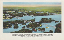 1000 ISLANDS International Bridge IVY LEA Ontario COLLINS LANDING NY 1940s PC