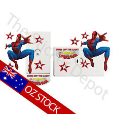 Spider-Man Wall Safe MOVABLE Light Switch Sticker
