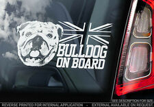 English Bulldog - Car Window Sticker - Dog Sign -V03