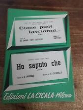 """SPARTITO MILVA """"COME PUOI LASCIARMI"""" + FRANCO TOZZI """"HO SAPUTO CHE"""""""