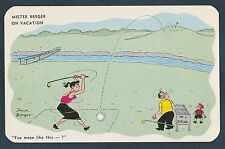 MISTER BREGER ON VACATION ARTIST SIGNED DAVE BREGER 89365 VINTAGE POSTCARD