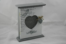 Grey ''ANGEL'' ShabbyChic Wall Mounted Key Box / Cupboard / Cabinet *NEW*