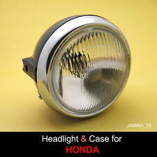 Honda XL100 XL125 XL175 XL250 XL350 MT125 Headlight + Rim Ring + Bucket Case
